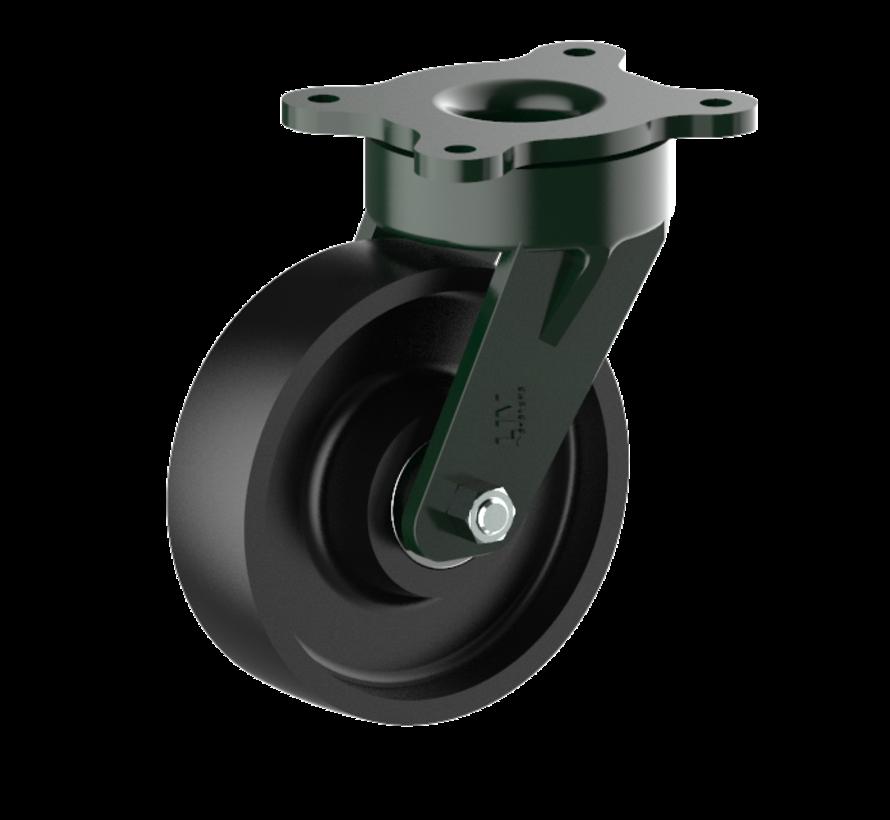 heavy duty Swivel castor + solid cast iron wheel Ø160 x W50mm for  900kg Prod ID: 56198