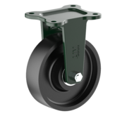 LIV SYSTEMS Fixed castor + solid cast iron wheel Ø160 x W50mm for 900kg