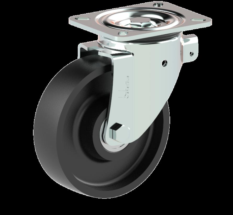 heavy duty Swivel castor + solid cast iron wheel Ø160 x W50mm for  600kg Prod ID: 56392