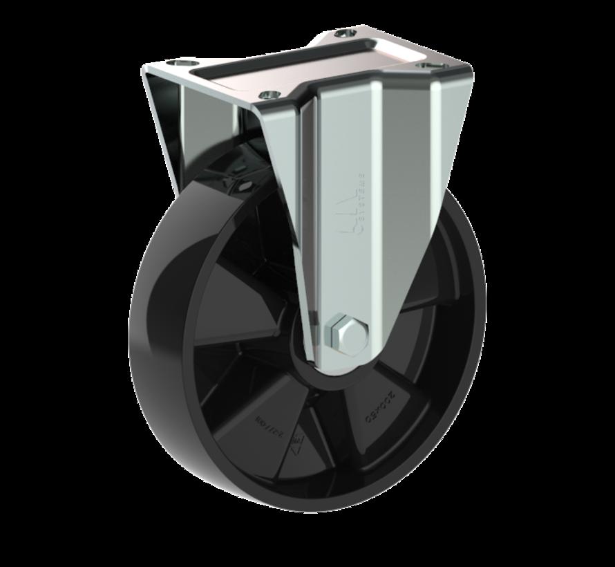 Vzdržljivo fiksno kolo + trdno poliamidno kolo Ø200 x W50mm Za  500kg Prod ID: 56586