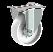 LIV SYSTEMS Fixed castor + solid polypropylene wheel Ø108 x W36mm for 150kg