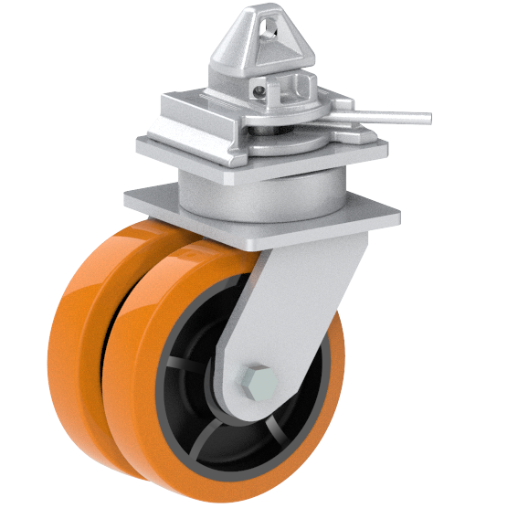 ISO castor with twistlock and 5000 kg load capacity