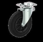 LIV SYSTEMS vrtljivo kolo  + ?rna guma pnevmatika Ø160 x W40mm Za  200kg