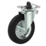 Swivel castor with brake + black rubber tread Ø200 x W50mm for 250kg