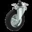vrtljivo kolo z zavoro + črna guma Ø200 x W50mm Za 250kg