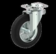 LIV SYSTEMS Swivel castor + black rubber tread Ø160 x W40mm for 200kg