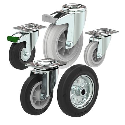Rubber Wheel castor