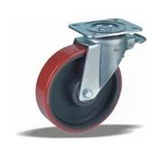 LIV SYSTEMS vrtljivo kolo z zavoro + brizgana poliuretanska obloga Ø200 x W50mm Za 1000kg
