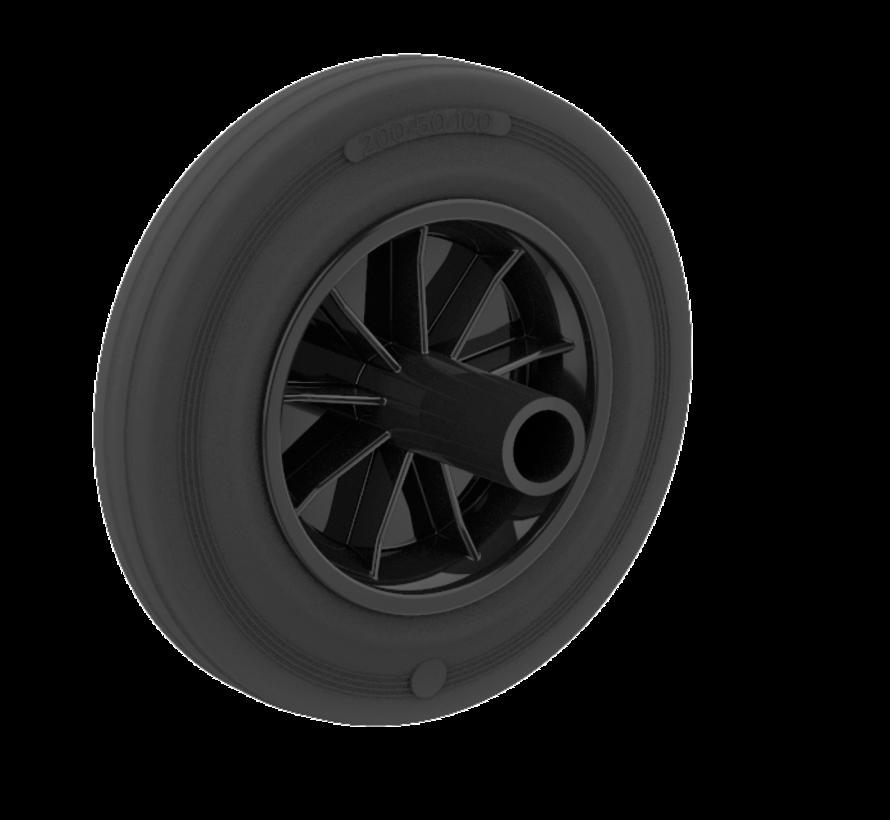Kolesa za smeti kolo + gumijasta pnevmatika Ø200 x W50mm Za  160kg Prod ID: 68947