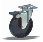 LIV SYSTEMS vrtljivo kolo z zavoro + trdno polipropilensko kolo Ø100 x W25mm Za 80kg