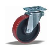 LIV SYSTEMS Swivel castor + injection-moulded polyurethane tread Ø200 x W50mm for 1000kg