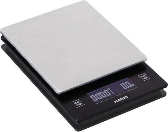Hario Weegschaal Zwart Metaal Met Timer-1