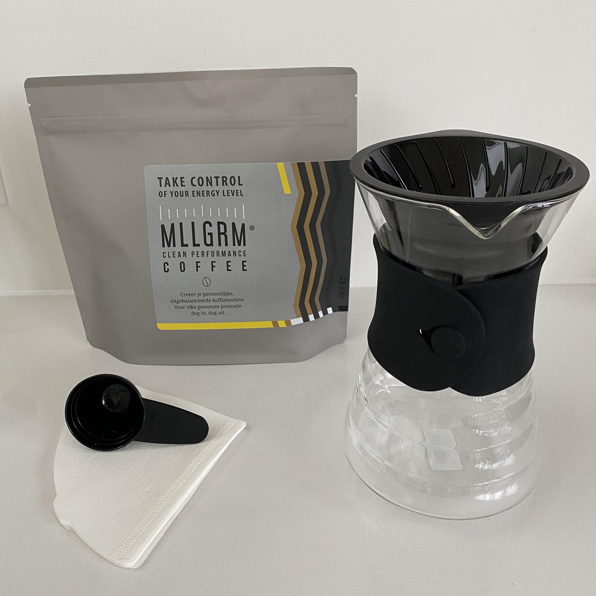 Filterkoffie Homekit Decanter Glas Zwart 700ml-1