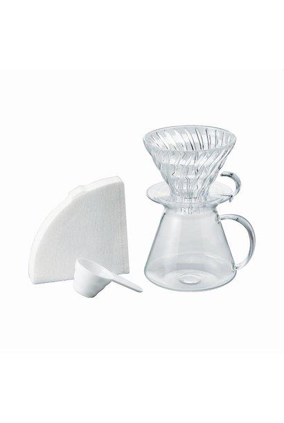 Hario V60 Filterkoffie Kit Glas