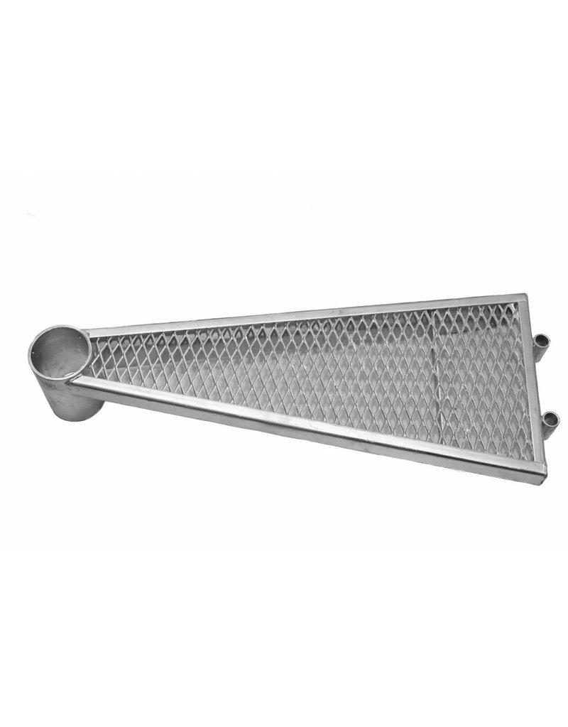 Zusatzstufe mit Aluminium- Handlaufverbinder für Außenspindeltreppe SCARVO S 130, M 130 und L 130
