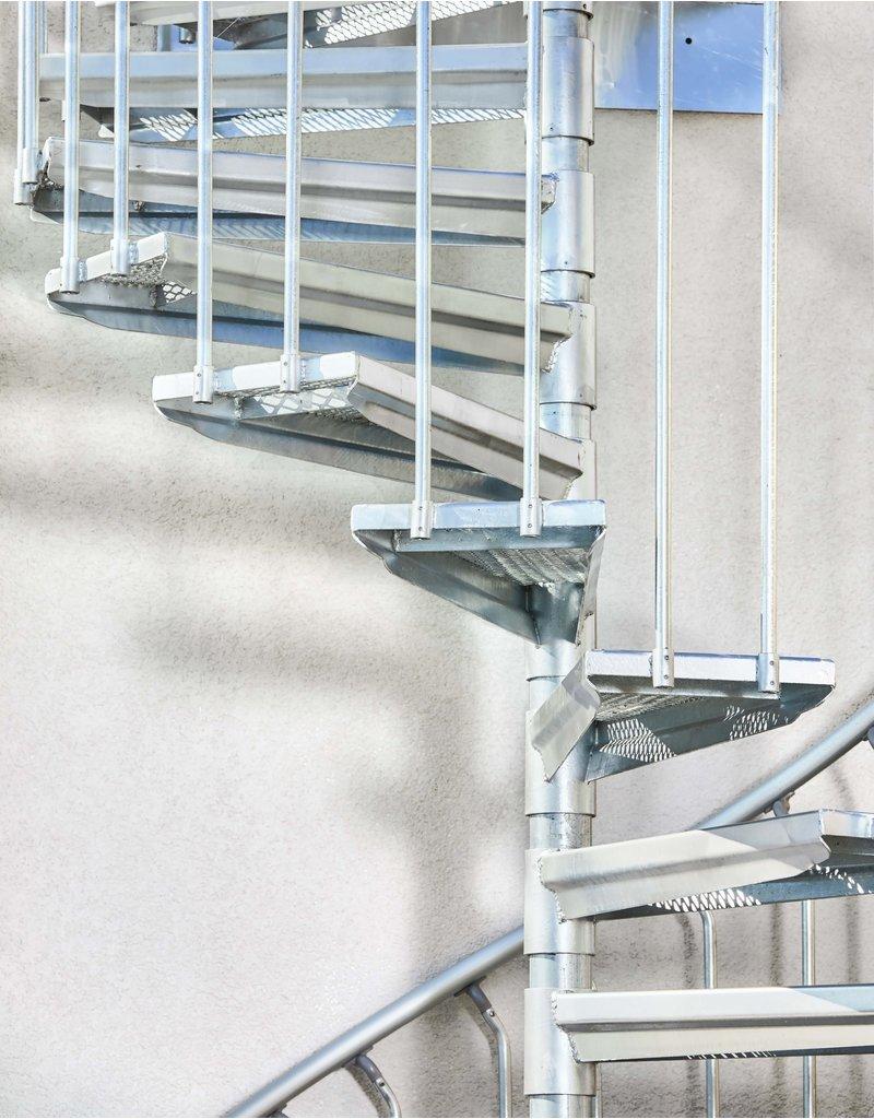 Außenspindeltreppe SCARVO M 160 mit Aluminium Verbindungsset