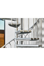 SCALANT Außenspindeltreppe SCARVO M 180 mit Aluminium Verbindungsset