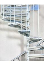 Außenspindeltreppe SCARVO L 180 mit Aluminium Verbindungsset