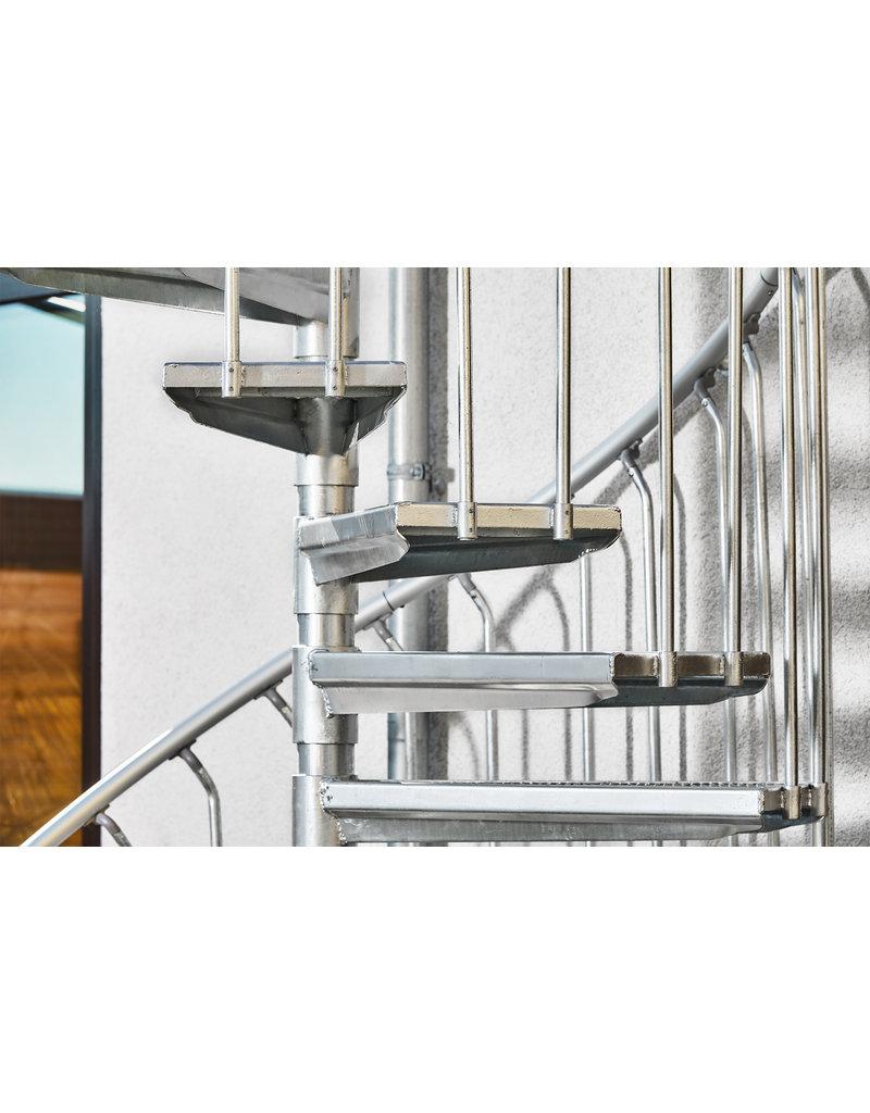 SCALANT Außenspindeltreppe SCARVO XL 160 mit Aluminium Verbindungsset