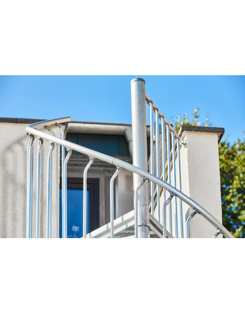 SCALANT Außenspindeltreppe SCARVO XL  180 mit Aluminium Verbindungsset