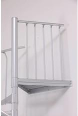 Zusatzpodest Aluminium für Außentreppe SCARVO 130