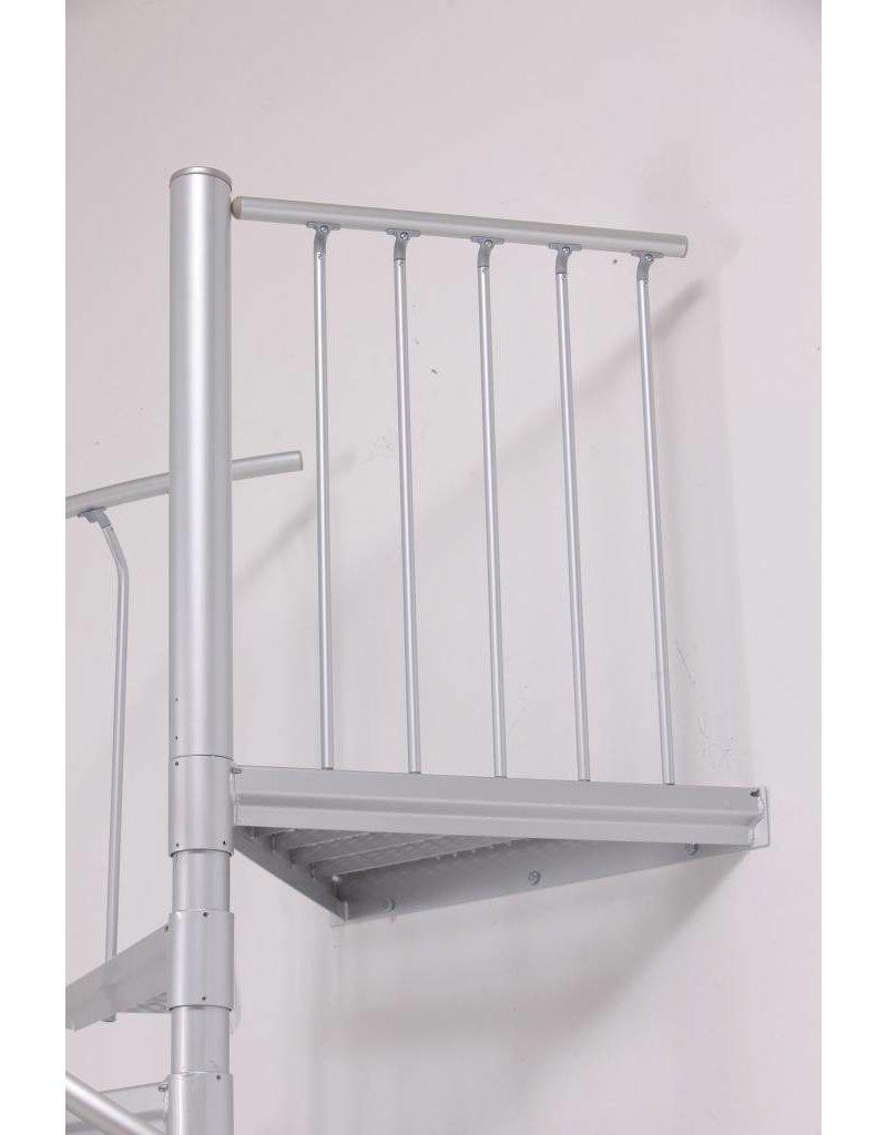 Zusatzpodest Aluminium für Außentreppe SCARVO 160