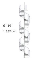 Außenspindeltreppe SCARVO XL 160 mit WPC Treppenstufenbelag