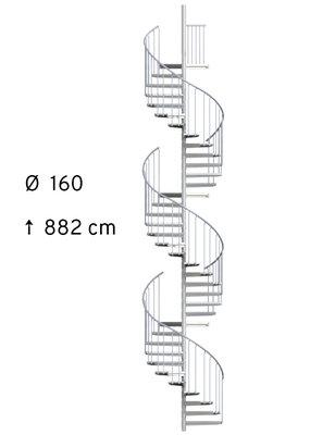 SCALANT SCARVO XL 160 mit WPC Stufen