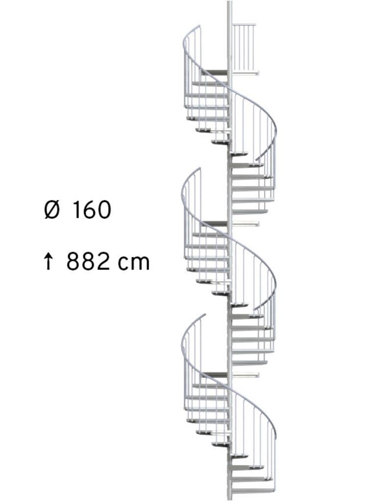 Außenspindeltreppe SCARVO XL 160