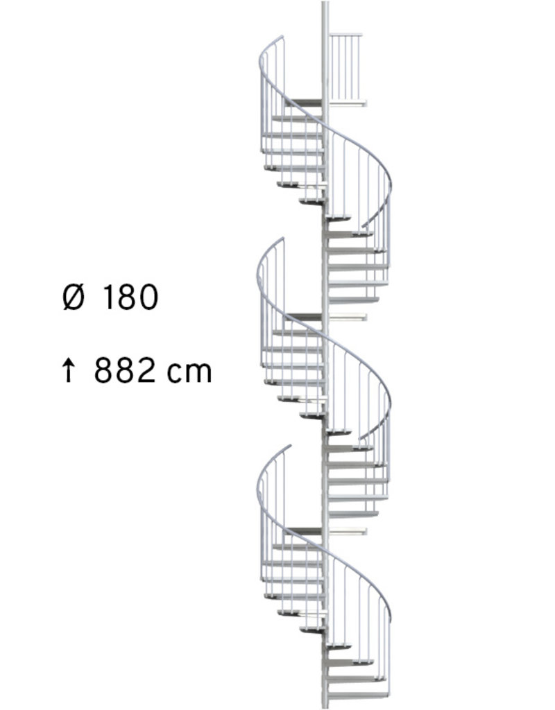 Außenspindeltreppe SCARVO XL  180