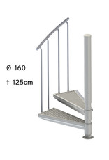 SCALANT Außentreppe SCARVO S 160 ohne Podest, mit Aluminium Set