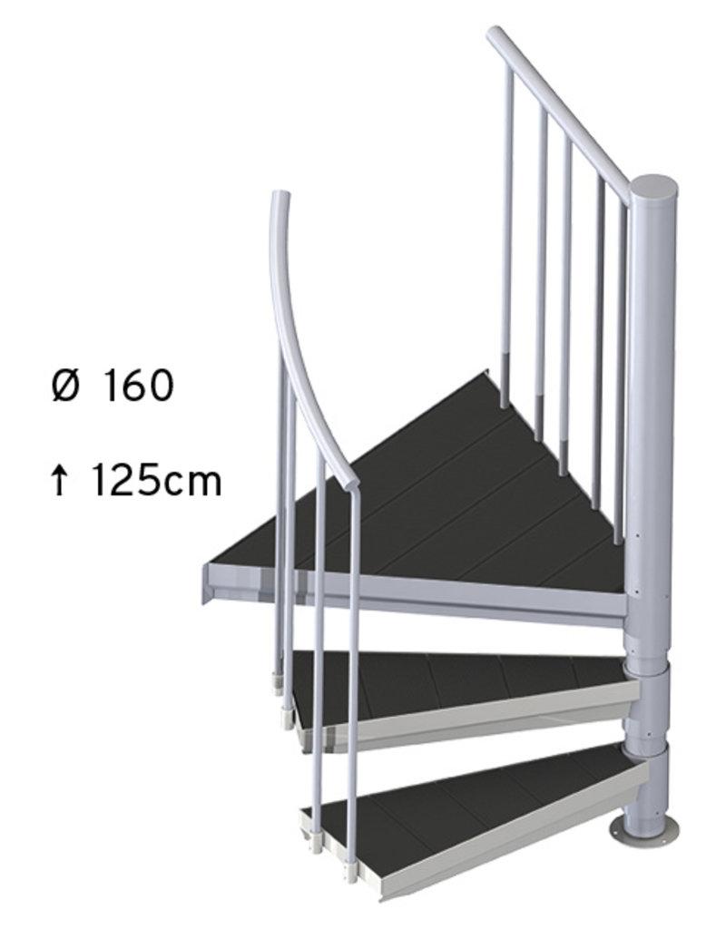 SCALANT Außentreppe SCARVO S 160 mit WPC Treppenstufenbelag