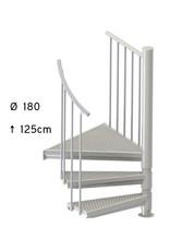 SCALANT Außentreppe SCARVO S 180 mit Aluminium Verbindungsset