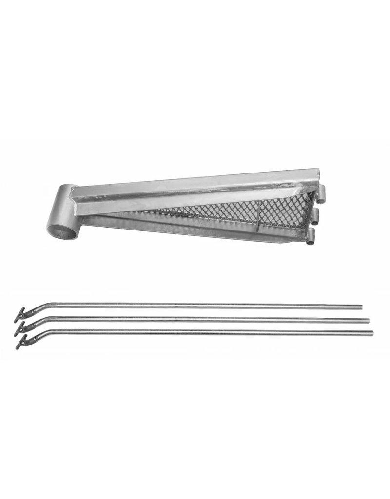 SCALANT Zusatzstufe mit Aluminium- Handlaufverbinder für Außenspindeltreppe SCARVO S 225, M 220,  L 220, XL 220