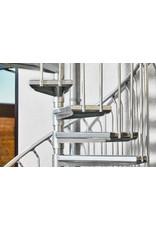 SCALANT Außenspindeltreppe SCARVO XXL 160 mit Aluminium Verbindungsset