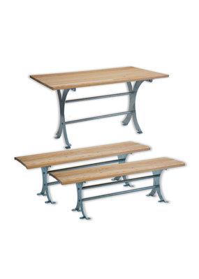 SCALANT Sitzgruppe Garten Tisch + 2 Bänke