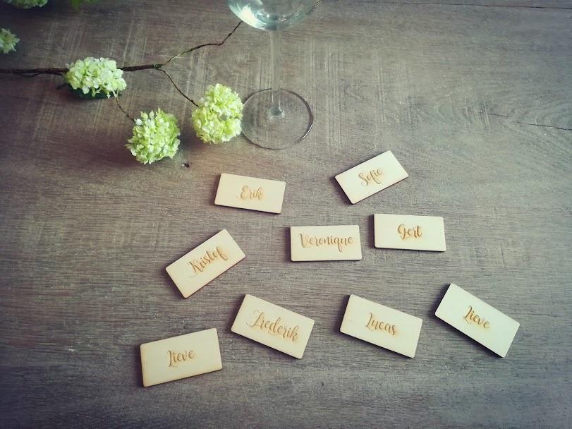 Tafel naamkaartjes