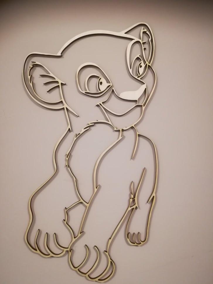 Wanddecoratie leeuwenkoning