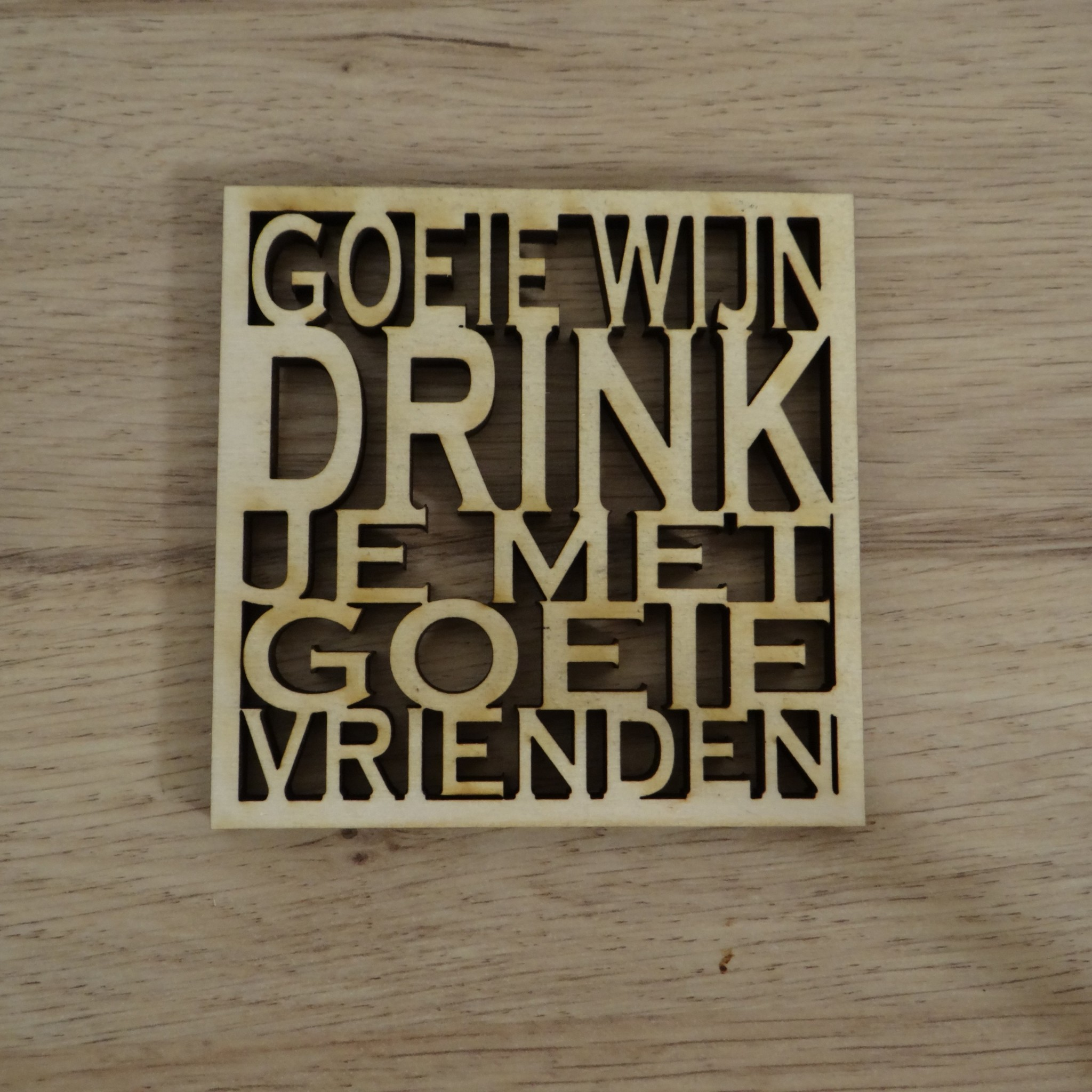 Coaster met quote