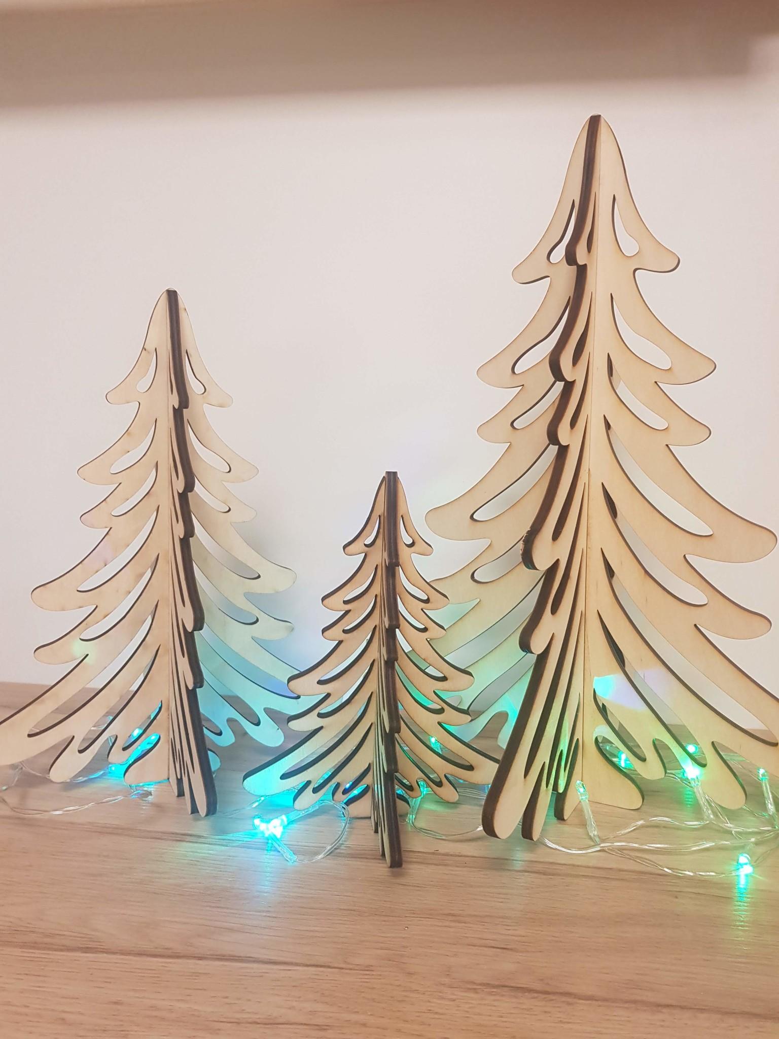 Kerstboom uit hout