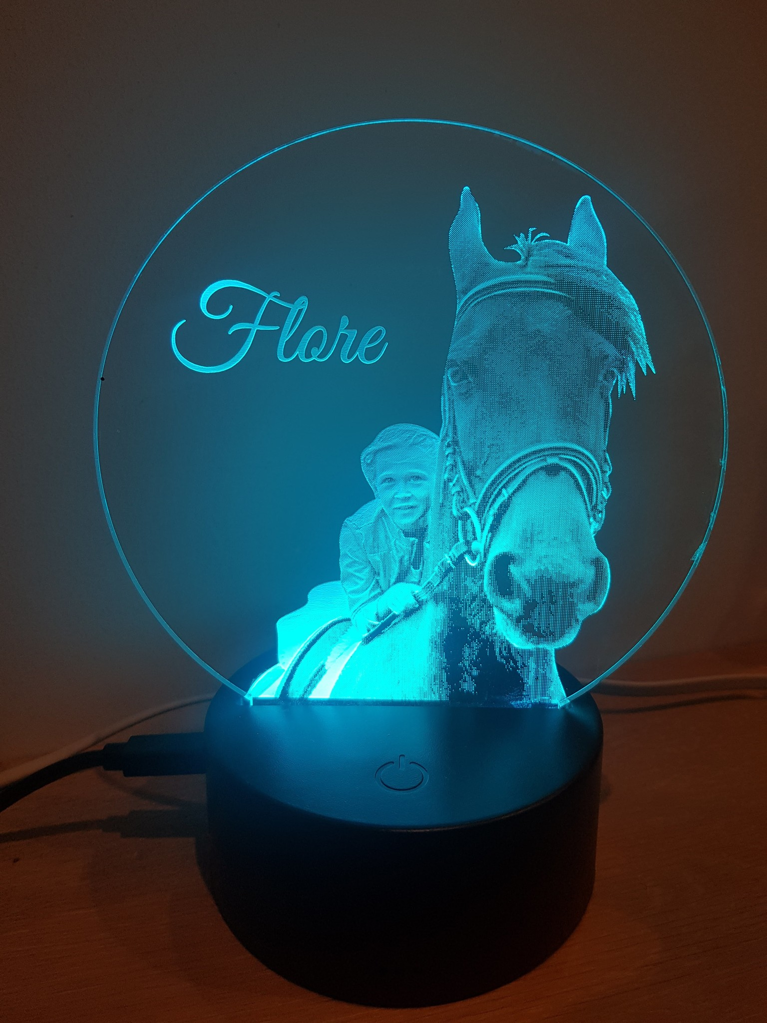 Nachtlamp Foto-Tekening