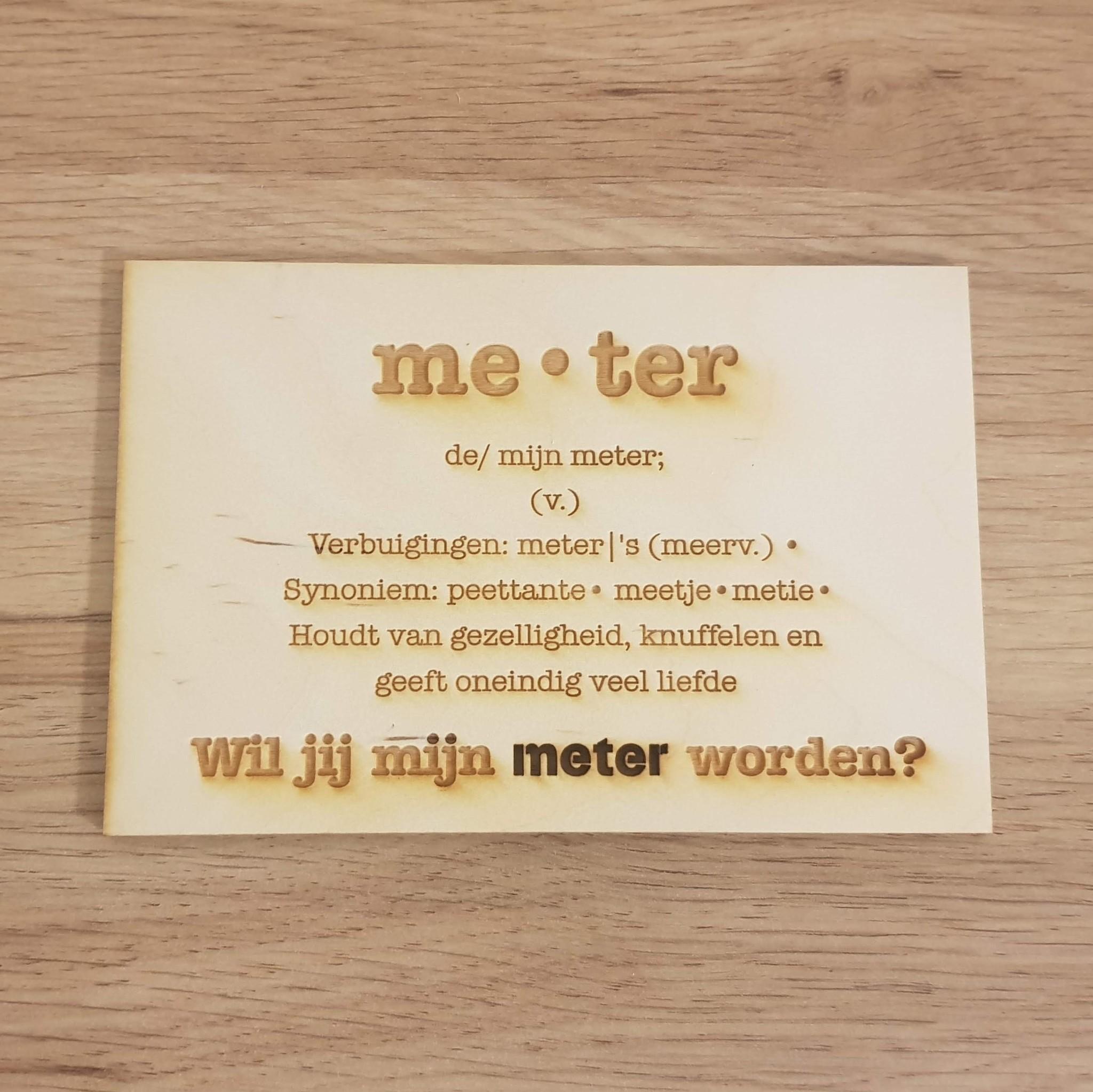 Kaart Meter/Peter