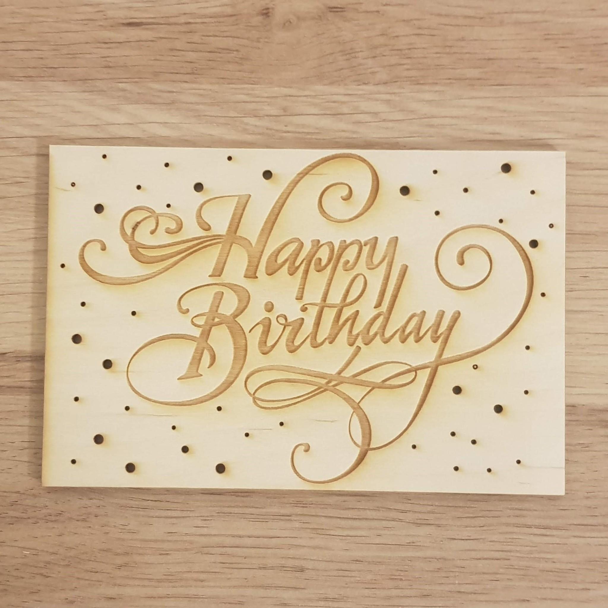 Kaart  Happy Birthday krul