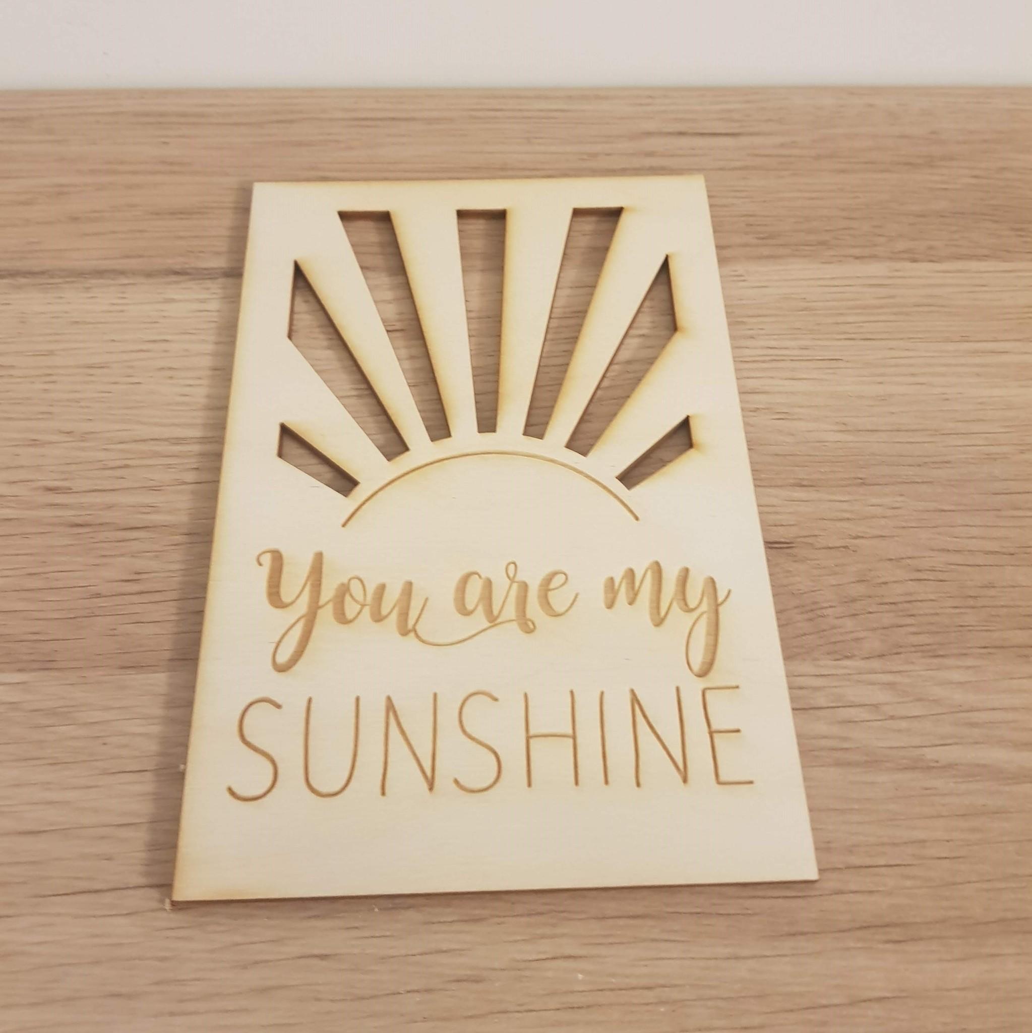 Kaart You are my Sunshine