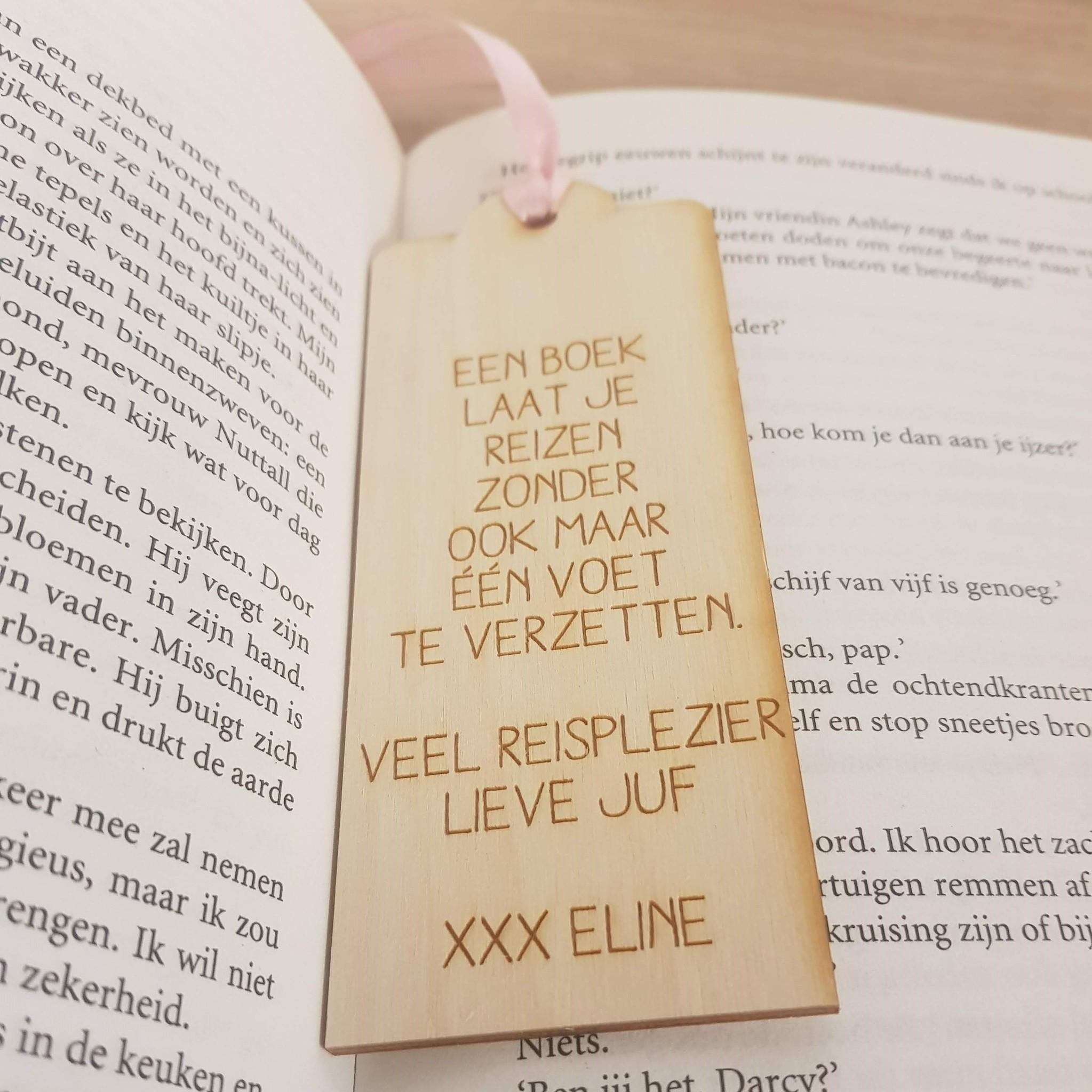 Gepersonaliseerde boekenlegger