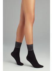 Penti Mooie zwarte sokken met print - Nature