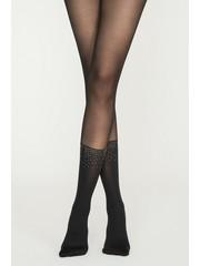 Penti 30 denier panty met sokken print