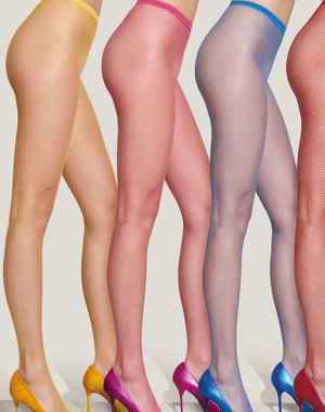 Trasparenze Gekleurde net panty Ambra (14 kleuren)