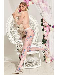 Trasparenze Panty met bloemenprint - 20 Denier