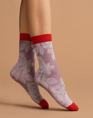 Fiore Red Rose sokken van 40 denier